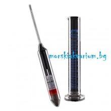 ARKA Хидрометър с вграден термометър и мерителен цилиндър