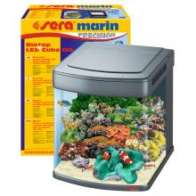 Sera Marin Biotop LED Cube 130 - напълно оборудван морски аквариум с LED осветление